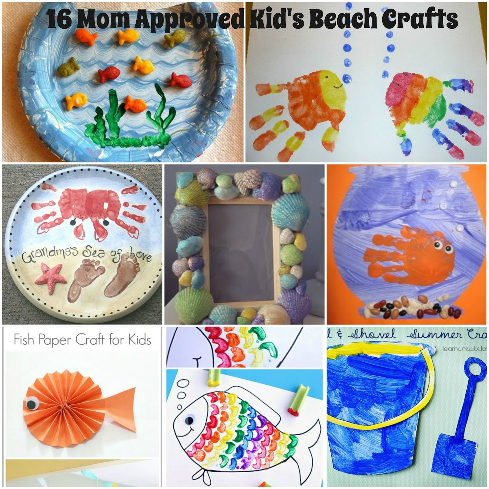 Kids Beach Crafts Summer Activities For