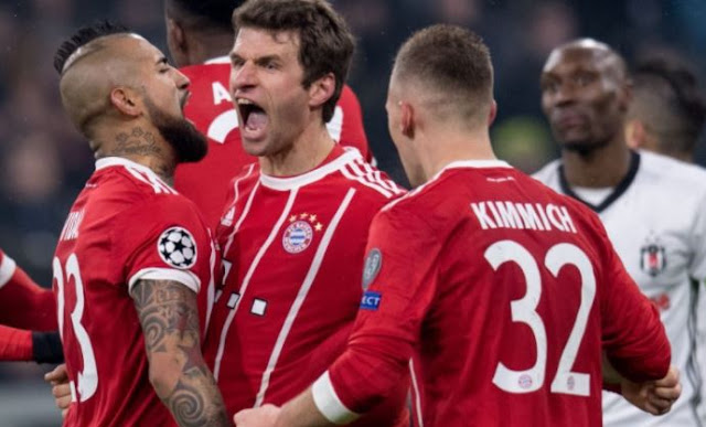 Bayern Munich 5-0 Besiktas Highlights (Vida early red card enabled Bayern to run riot and seal the tie)