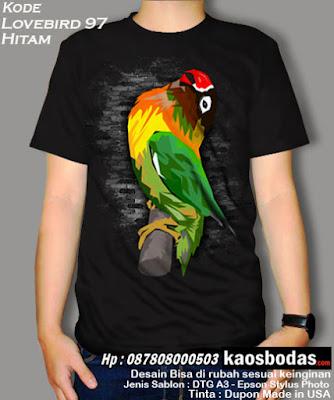 Supplier kaos burung kicau mania, Lovebird, Murai, Kenari, Pleci, Cucak Ijo, Kacer, Untuk Team dan pribadi. Desain Keren, Lucu, Unik, 3D, BERGARANSI