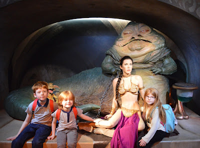 Madame Tussauds London including Star Wars,  A Review - Jabba the Hut, Princess Leia in Jabba's Palace