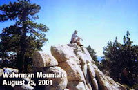 Dan Simpson on top of Waterman Mountain summit (8036'), August 25, 2001