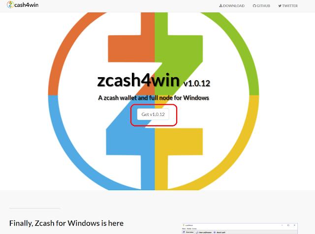 Загрузка кошелька zcash4win