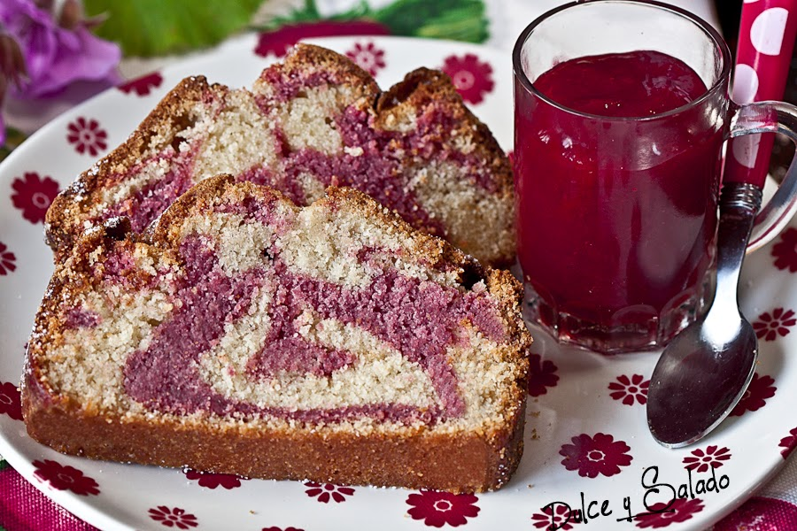 Bizcocho Marmolado de Mermelada de Fresas