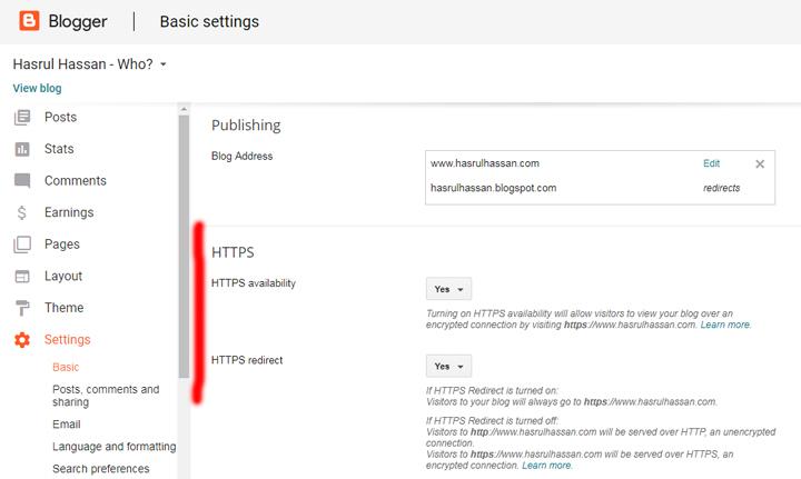 Cara Nak Dapatkan Gambar 'Padlock' Pada URL Blog