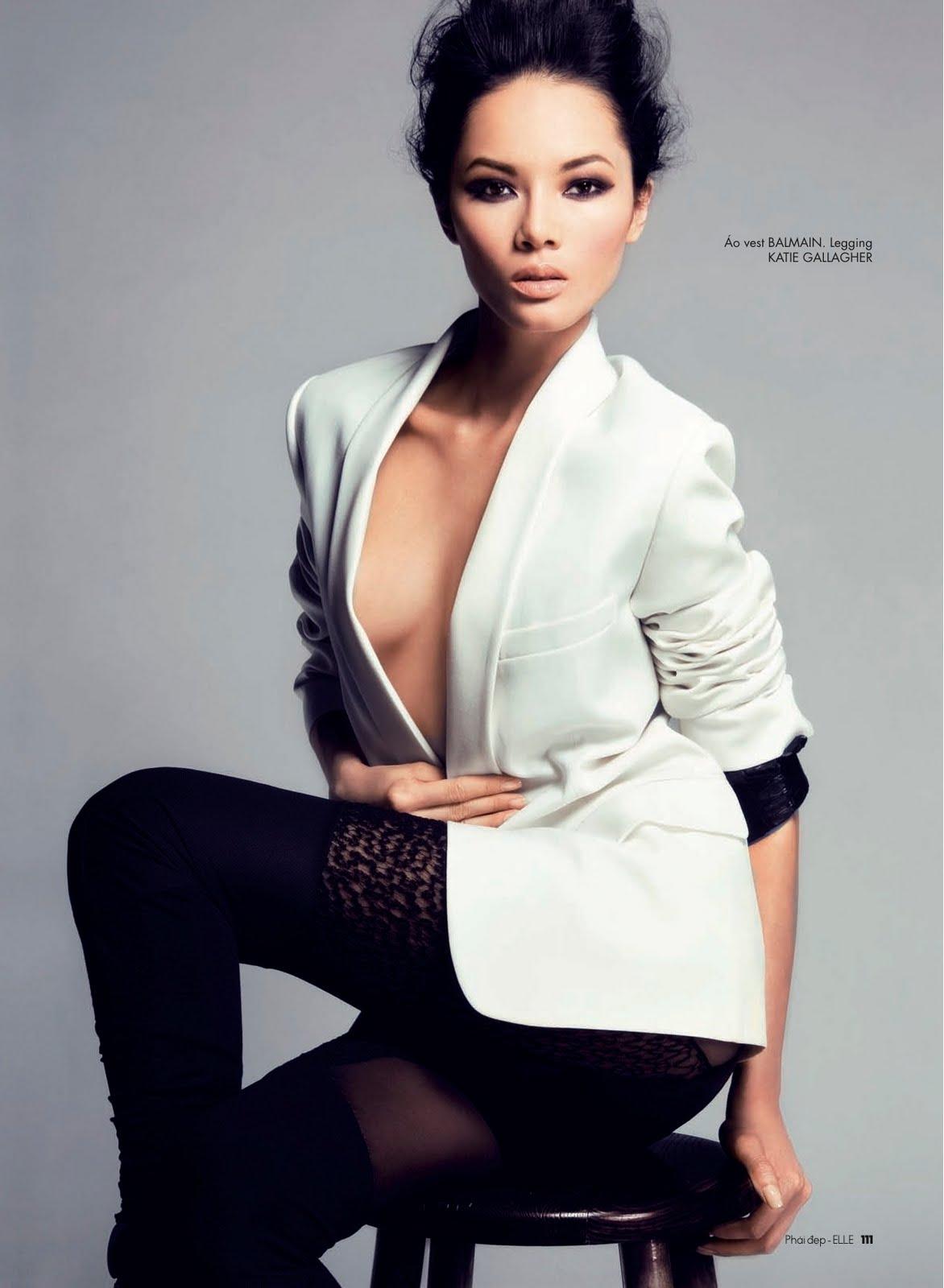 Asian Models Kana Tsugihara: ASIAN MODELS BLOG: EDITORIAL: Bao Hoa In Elle Vietnam