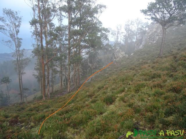Ruta al Pico Gobia y La Forquita: Pista bajo el Pico Gobia