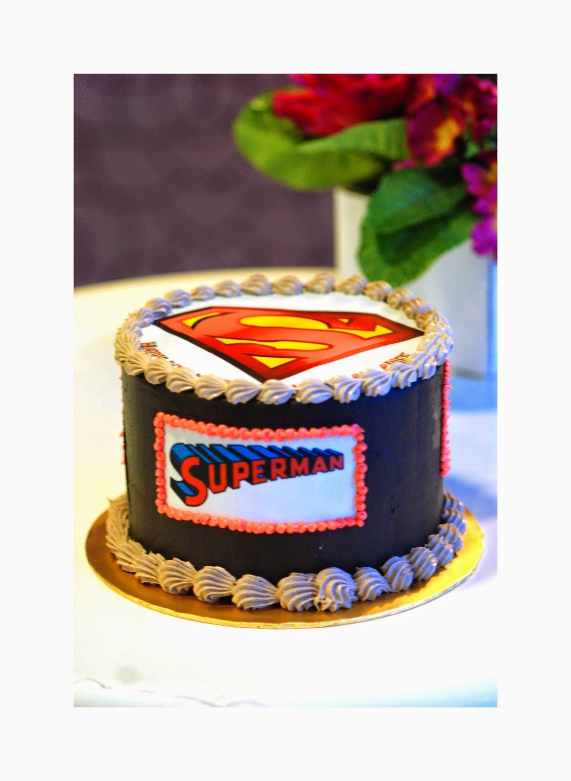 Kek Hari Jadi Superman Prettysmallbakery