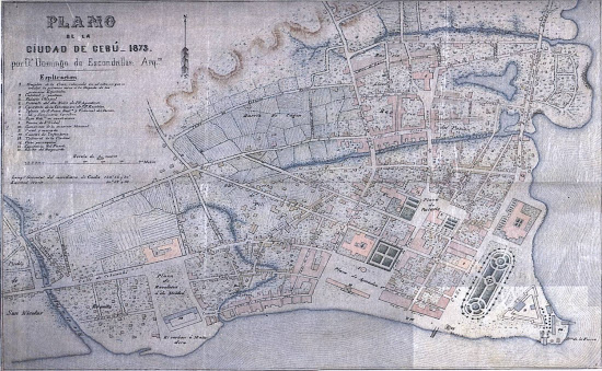 1873 Escondrillas Plan of Cebu City by