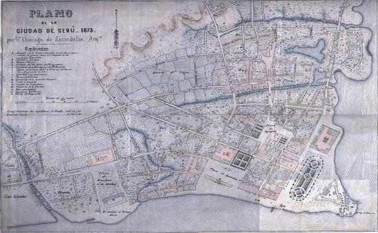 1873 Escondrillas Plan of Cebu City by