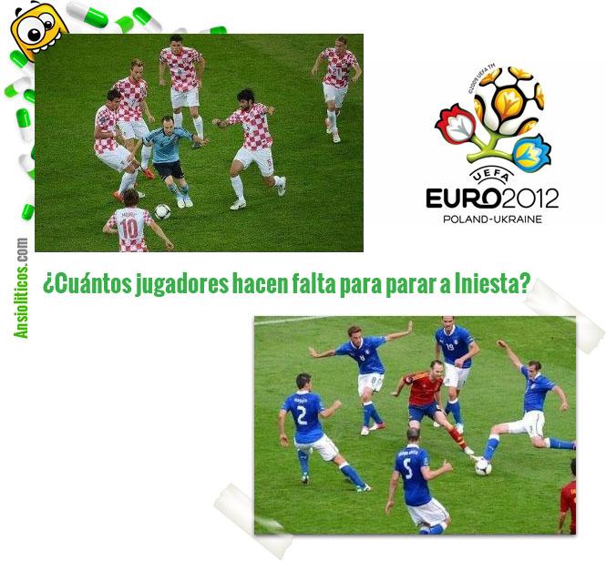 Chiste de la Eurocopa: Jugadores contra Iniesta