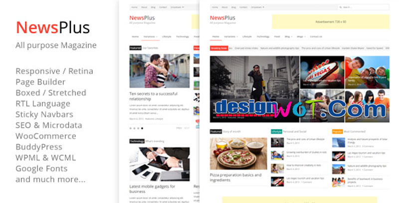 NewsPlus - Magazine Editorial WordPress Theme