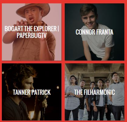 Youtube FanFest Lineup