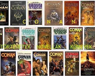 Conan történetek, novellák, könyvek