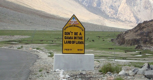Witty Road signs you will see in laddakh