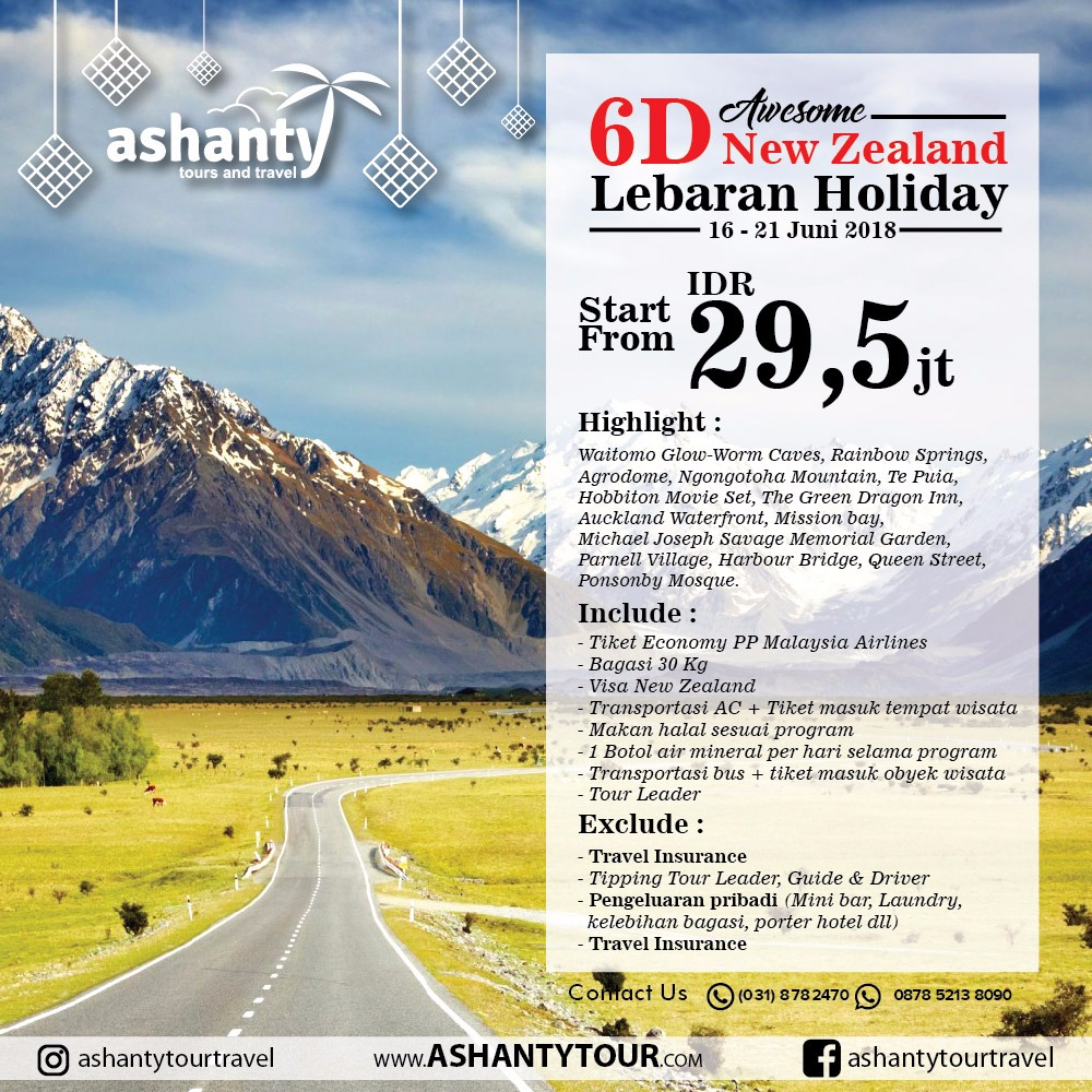 New Zealand Lebaran Tour 2018 (6D)
