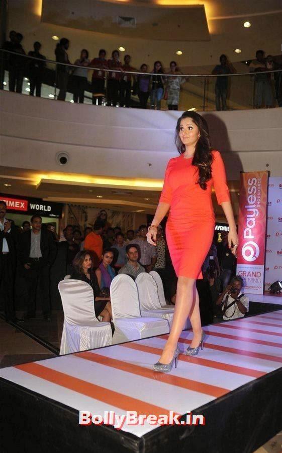 Sania Mirza Latest Stills, Sania Mirza Hot Pics in Red Midi Dress