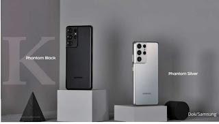 Warna casing bodi Samsung Galaxy S21 ultra
