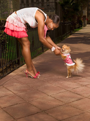 A cute girl dances with her dog; dog training research shows the importance of rewards and consistency