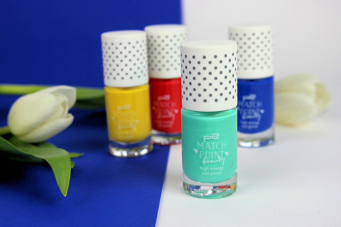 active blue, active mint, active red, active yellow, cosmetics, drogerie, high energy, le, limited edition, match point beauty, nagellack, nail polish, nailpolish, nails, p2, review, swatches, tragebilder,