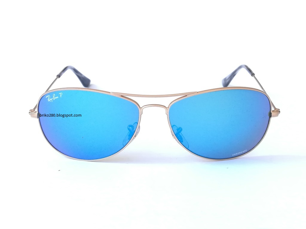483c5c6b0b RayBan RB-3562 Chromance Series Gold frame with Polarized Blue Mirror  Chromance lense. RB-3362 112 A Size 59-14-140