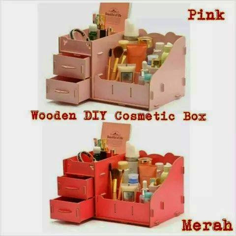 DIY WOODEN COSMETIC STORAGE BOX ( LIMITED STOCK )