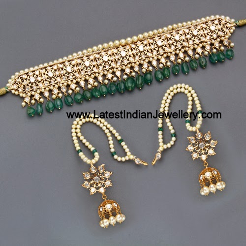 Jugni Pearls Choker Necklace Sets Latest Indian