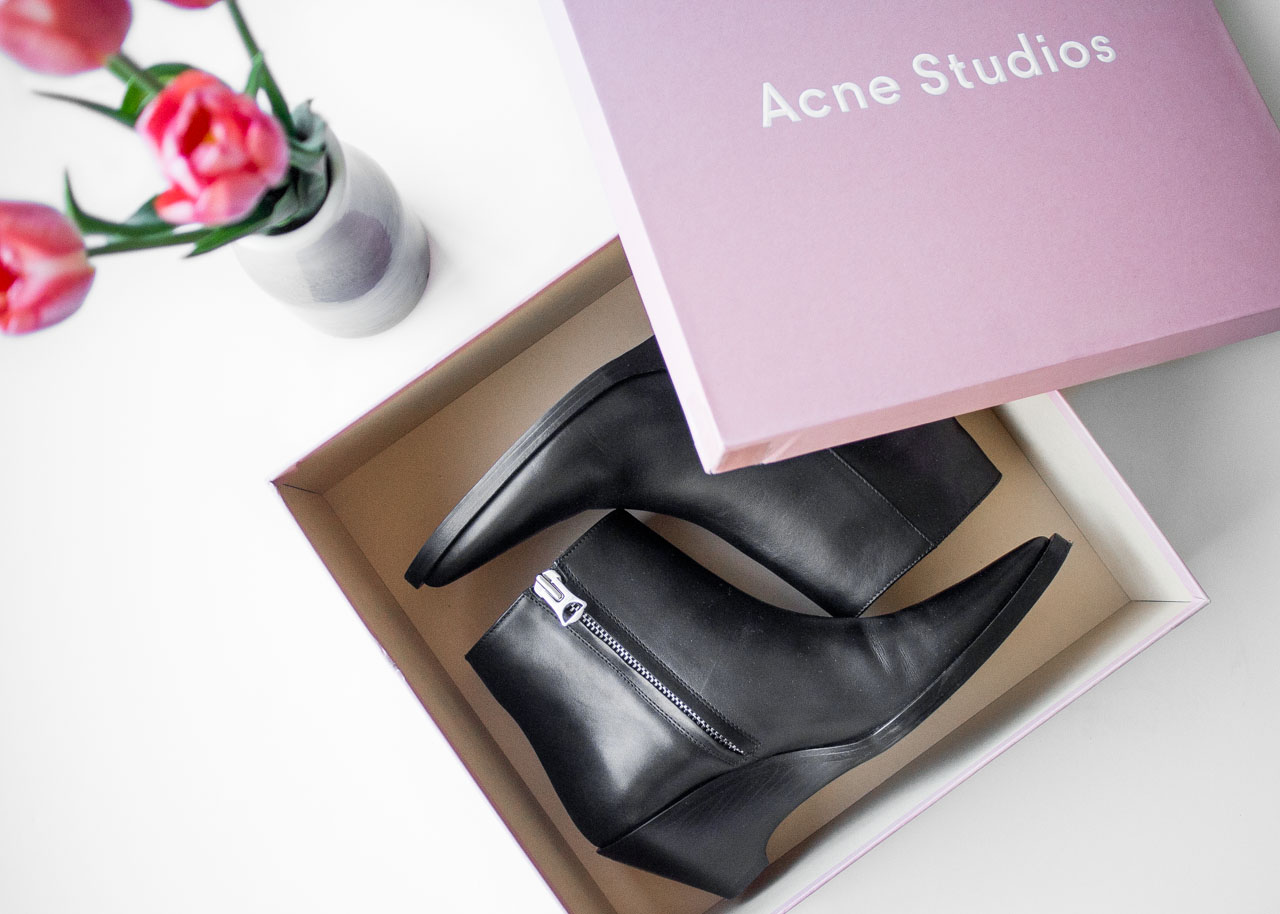 Acne Studios cony boots - new in designer wardrobe - Vancouver Fashion Blogger