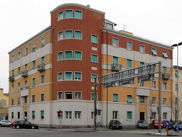 Corner building, Viale Carducci, Viale Alfieri, Livorno