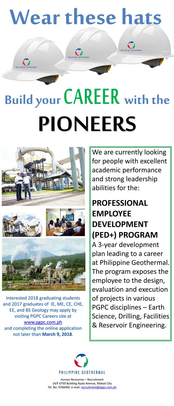 Philippines: Job Vacancies with Philippine Geothermal