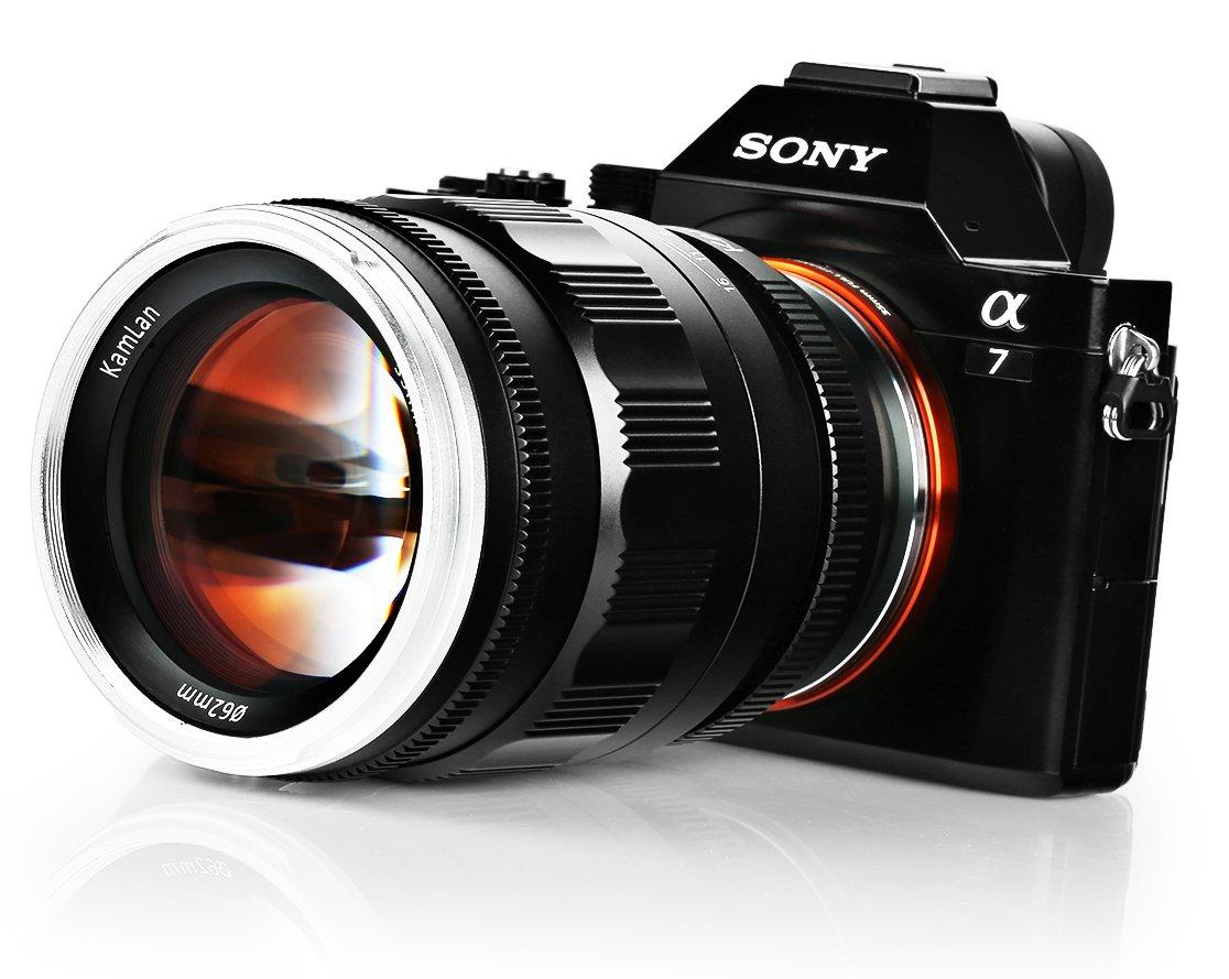 Объектив Kamlan 55mm f/1.2 для камер Sony