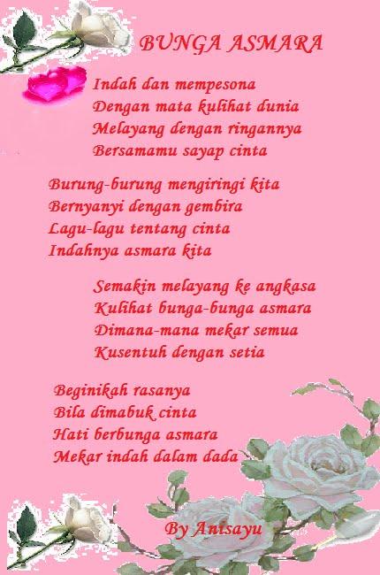 PUISI CINTA BY ANISAYU Bunga Asmara
