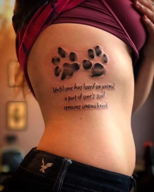Pawprint Foot Tattoo: 50 Amazing Paw Print Tattoo Ideas For Pet Lovers (2018