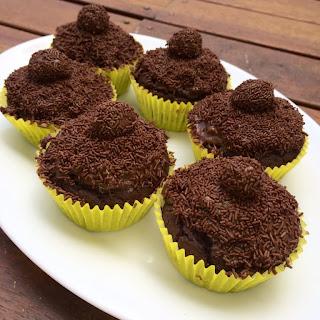 Easy Brigadeiro Cupcakes