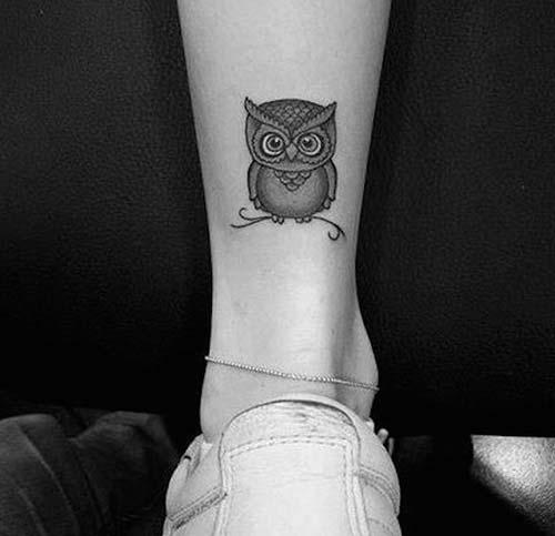 ayak bileği baykuş dövmesi ankle owl tattoo