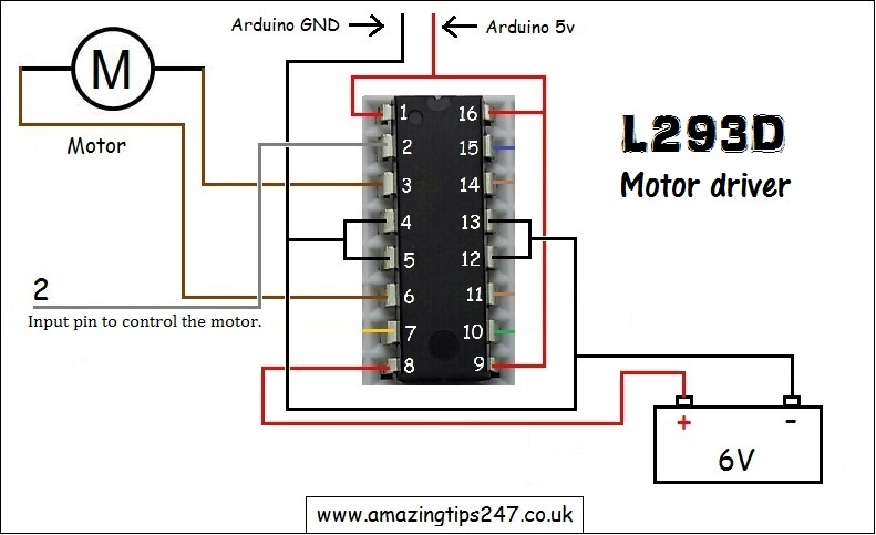Controlling speed of a dc motor with pwm and l d
