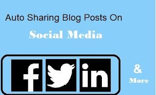 Auto Sharing Blog Posts On Social Media (Facebook, Twitter, LinkedIn and App.Net)