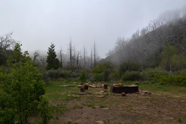 Madulce Camp in the fog