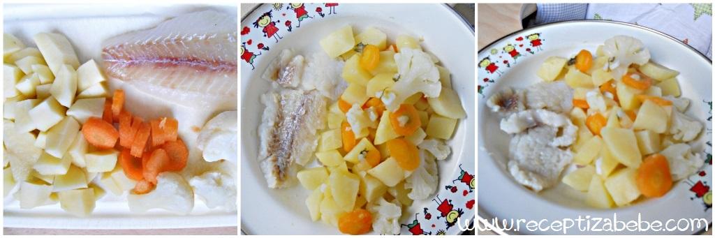 oslic, riba i povrce za bebe
