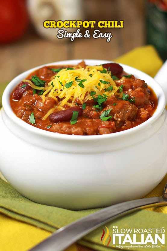 This simple and easy recipe is perfect to feed a crowd!  Our HEARTY slow cooker chili is fully loaded; packed with meat, beans and just the right amount of heat to make your tongue tingle.  Cooked in your crock pot all day or in just 4 hours.  It's up to you, it doesn't get much easier than that!