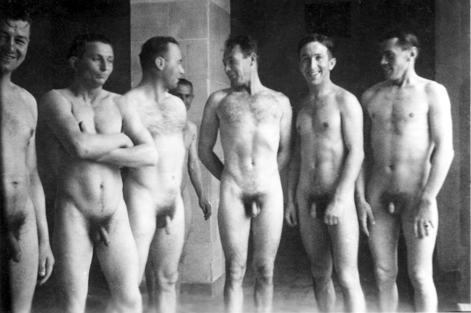 Vintage Male Swimmers Nude-7338