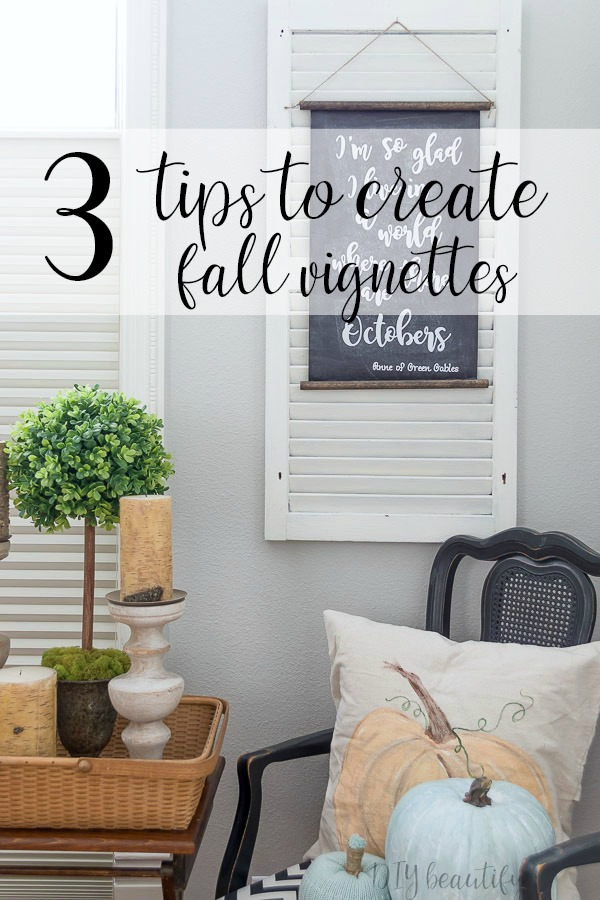 3 tips to create stunning vignettes