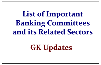 List of Banking Committees