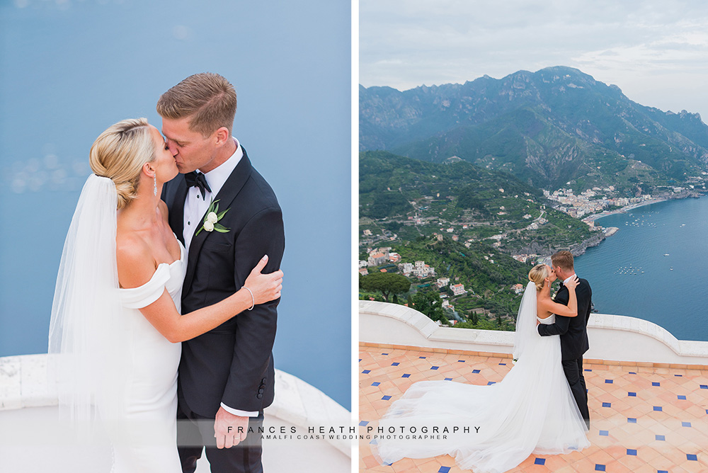 Bride and groom portraits at Villa Eva