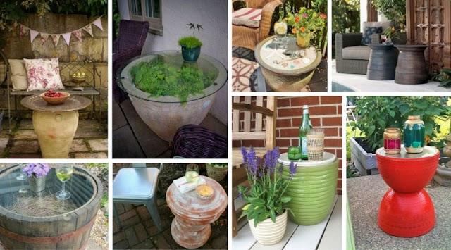 Βοηθητικά Τραπεζάκια για Κήπο-Μπαλκόνι από γλάστρες