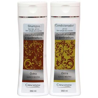 Kit shampoo e condicionador ostra para cabelo