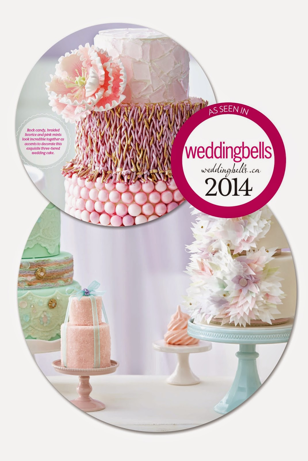 sweet table inspiration as seen in Weddingbells magazine