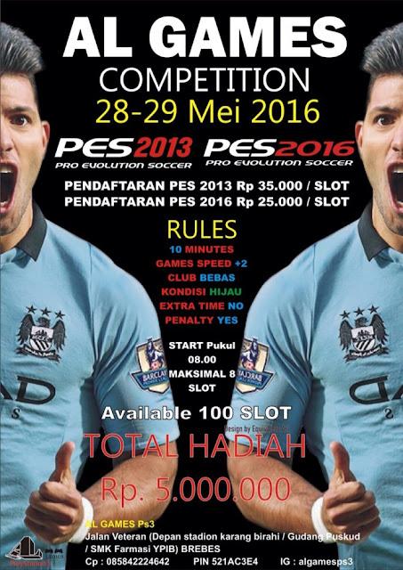 Kompetisi PES 2016 di Brebes Mei 2016