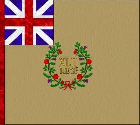 42nd Regiment of Foot (John Murray)  Regimental Colour
