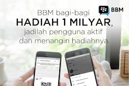 Aplikasi BBM Bagi-Bagi Hadian Uang Tunai 1 Milyar - Ayo Ikutan !