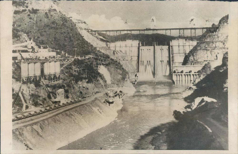 The Bhakra Dam Under Construction -  July 1960